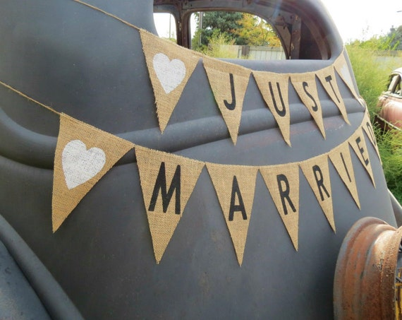 DIY wedding decorations burlap banner