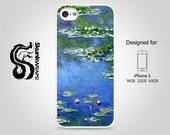 iPhone 5 Case, iPhone 5s Case, iPhone 5c Case  - Monet Water Lilies-  iPhone Case, iPhone 5G Case, Cases for iPhone 5, Hard iPhone 5 Case
