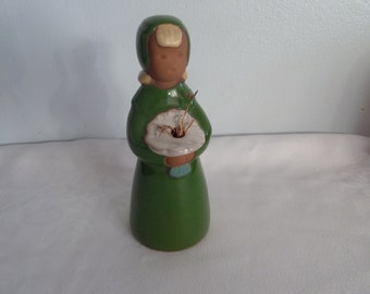 Vintage sweden swedish  ceramic Jie  girl figure