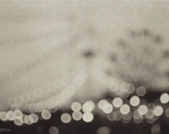 carnival, dreamy,  black and white, bokeh, lights, fine art photography