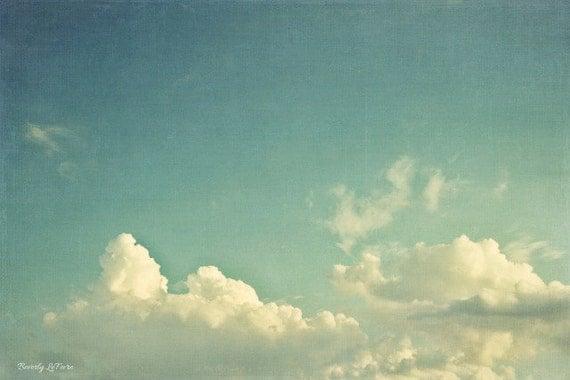 clouds, sky, blue, nature, fine art photography