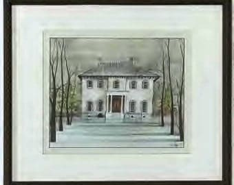 P Buckley Moss Litho titled: The Governers Mansion