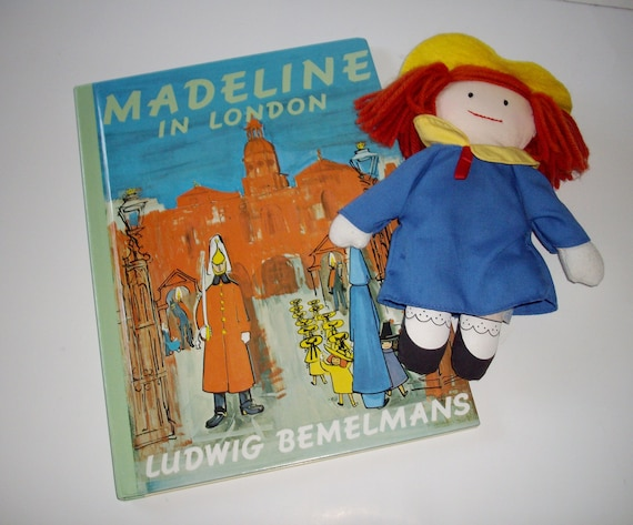Vintage Children's Book and Doll Madeline in London 1989 1990