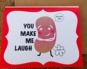 Gassy Bean Card