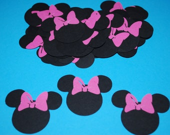Minnie Mouse Die Cuts (50) in Dark PINK