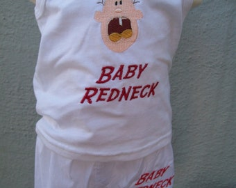 Baby Redneck Tank and Matching Boxer Type Shorts - Size 18 months - Clearance