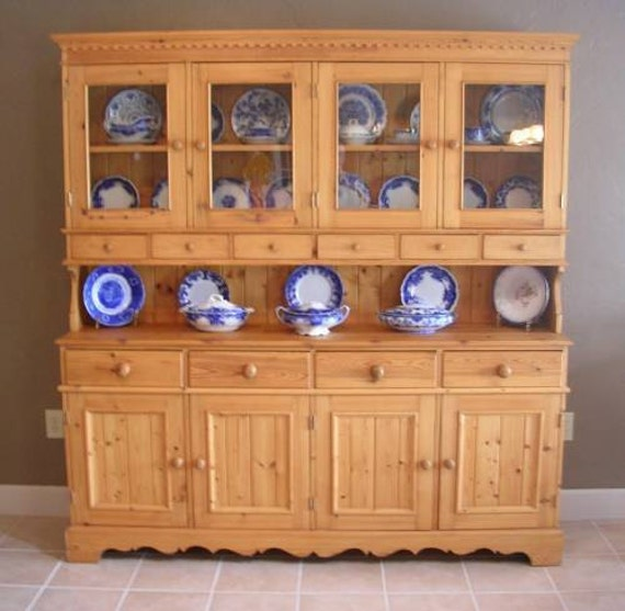 """2 Piece English Pine Handmade Side Board Cabinet """" ---- We have discounted---"""