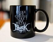 Black Metal Coffee Mug - Black