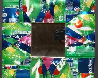 Soda Can Mosaic Mirror