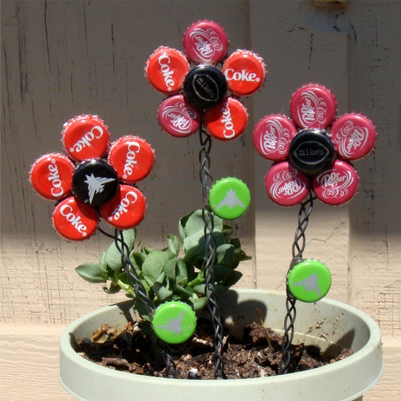 Bottle cap flowers for How to make bottle cap flowers