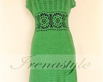 Crochet Dress  , custom made, hand made, crochet - 100% cotton.