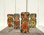 Vintage Toy Alphabet Blocks