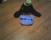 "Hand crochet floppy ear ""goofy"" looking dog costume/photo prop"