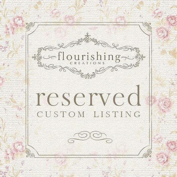 RESERVED LISTING for Ashley T