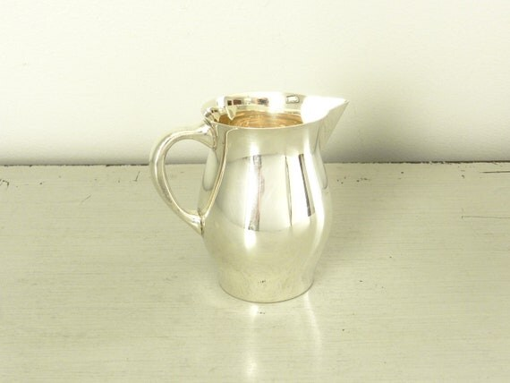 Fisher Sterling Silver Cream Pitcher Paul Revere Reproduction