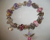 Custom Story Bracelet, Murano Bead Bracelets, European Charm Bracelets