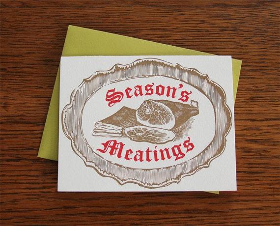 Season's Meatings Letterpress Holiday Card