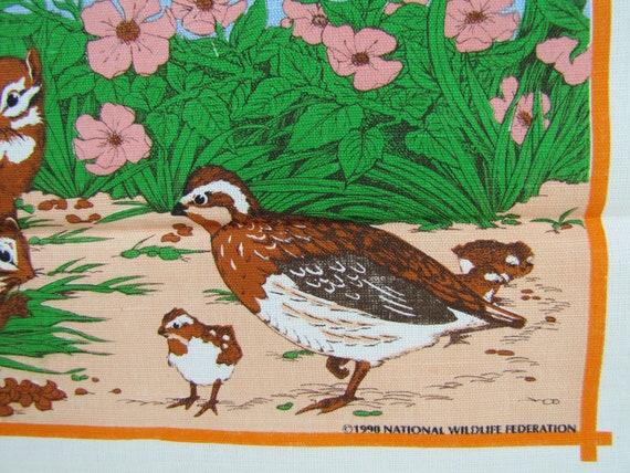 1991 Linen Calendar Tea Towel- Nature Scene