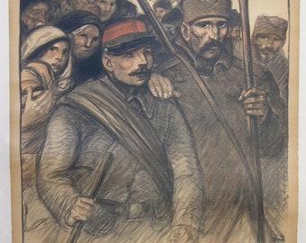 Original French WW1 poster by Steinlen 1916