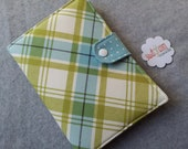 Kindle Touch eReader Cover, Book Style, Lucy's Crab Shack - Beach Blanket in Ocean and Green Ready to ship