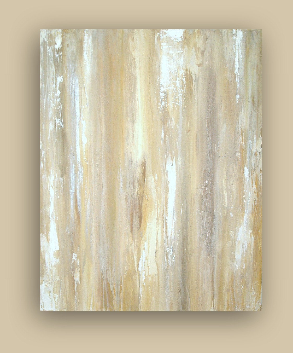 Original acrylic abstract painting titled white dove ii for White canvas to paint