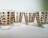 Vintage Cordial Shot Glass Set  Retro Design Mid Century Free Shipping