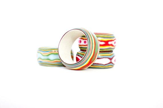 Vintage Napkin Ring Set Mid Century Lucite Napkin Ring Holders Free Shipping