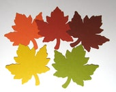 "100 Large (4"") Maple Leaves (Assorted colors) die cuts- DIY Family Tree,  Giving Thanks tree, wedding decor, favor tags, journal cards"