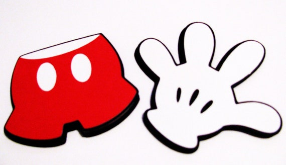 "10 pack - approx. 2.5"" Mickey glove & Mickey shorts die cuts"