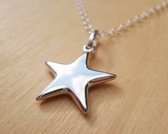 Silver Star Necklace - Sterling Silver