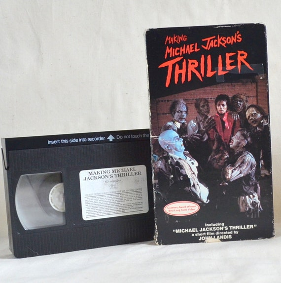 Michael Jackson Thriller. Making of & Short Film Music Video. Vintage 1980 Movie VHS Tape. Perfect Playable. For no mere mortal can resist.