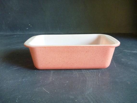 Vintage Pink Pyrex Loaf Pan - Rare speckled Desert Pink
