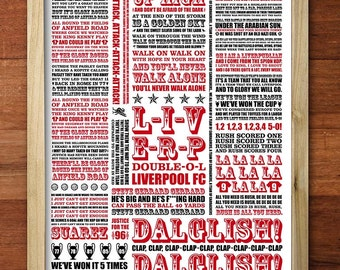 A3 LFC 'Shall we sing a song for you' digital print