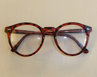 Vintage Sunjet-Carrera Red Tortoiseshell Eyeglasses -- New Old Stock
