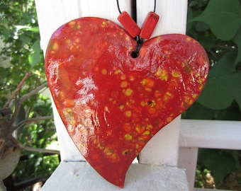 Large Colorful Red Heart