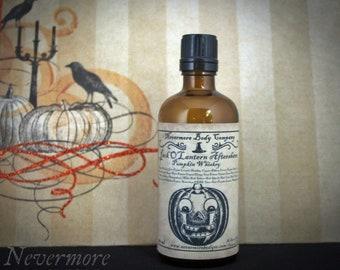 Aftershave Jack O Lantern  Mens Nevermore Body Company Pumpkin Whiskey Natural Vegan Sensitive