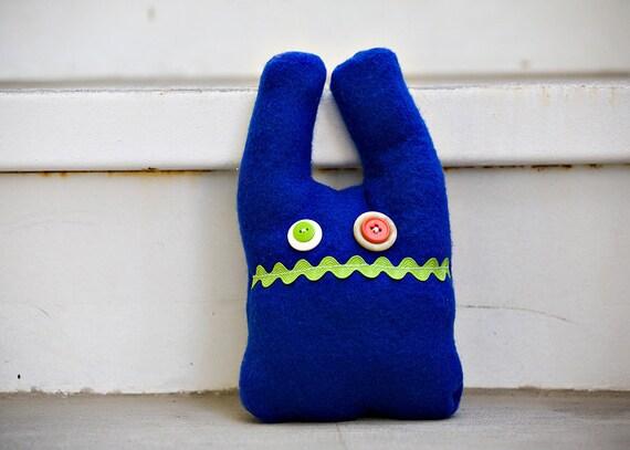 Handmade Plush Blue Monster - Landon
