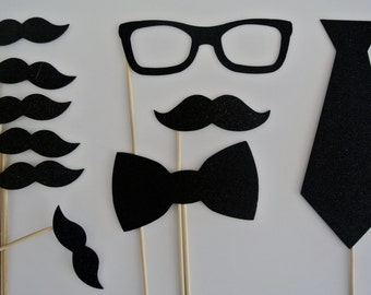 Wedding  Photo Booth  Party Props weddings birthdays 10 Mustache on a stick
