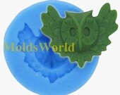 A395 Night Awk Cabochon Polymer Clay Silicon Mold Food Grade Silicone Fimo Mould 30mm