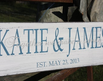 Personalized family sign. Established sign