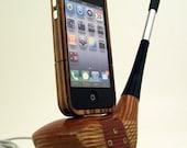Vintage Wooden Golf Club iPhone Dock