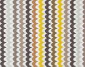 HUGE SALE- Fabric-Michael Miller Citron Gray Spa Scallop Citron 1 yard