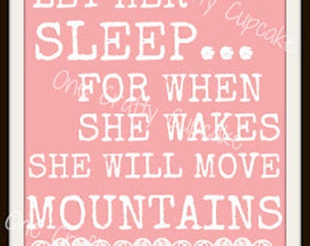 "Nursery Art ""Let Her Sleep"" Printable"