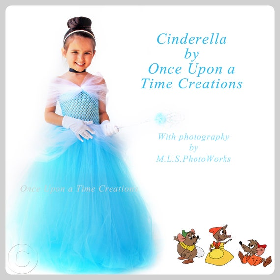Disney Store Deluxe Cinderella Costume For Baby Toddler 2t: Cinderella Inspired Princess Tutu Dress By OnceUponATimeTuTus