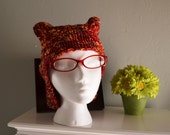 The Red Cat Knit Hat.