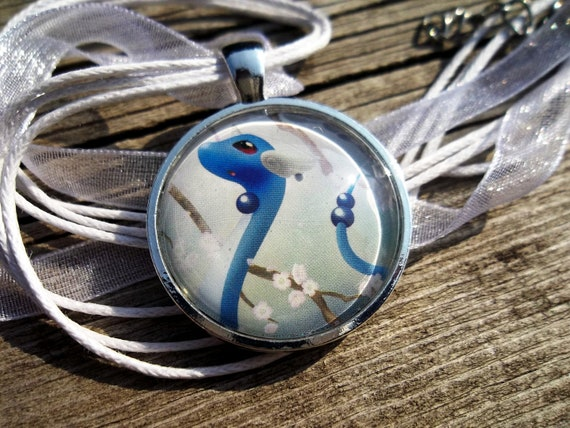 Dragonair Glass Pendant made from Trading Cards
