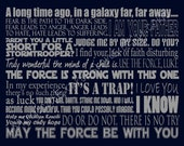 Star Wars Art Quote Inspired Typography 11 x 14 ((Ready to Ship))