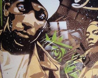 Big L Stencil Art Print
