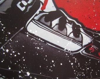 Air Jordan 3 Stencil Art Print