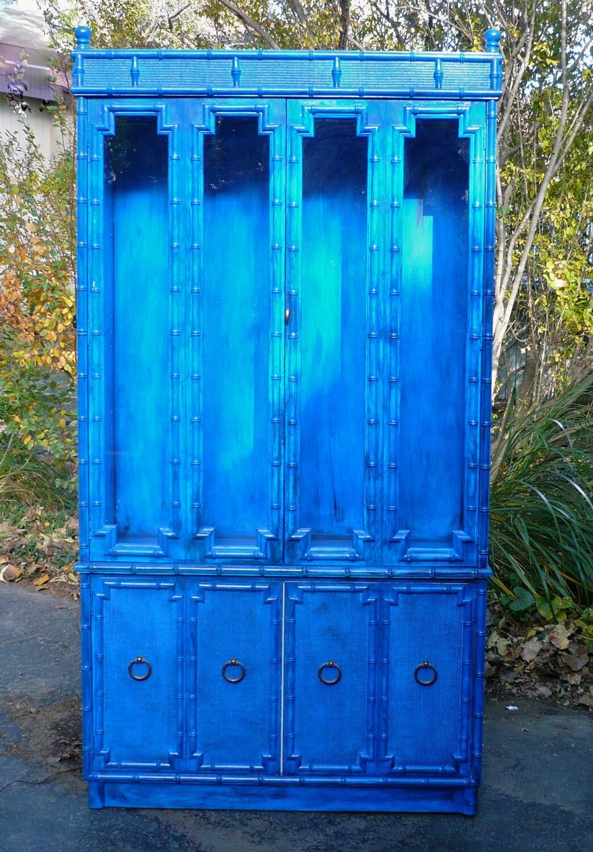 Drexel Cabinet China Cabinet Boho Furniture Bohemian Blue